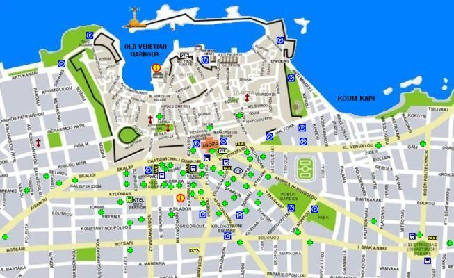 Important information phone numbers for Chania Crete Greece