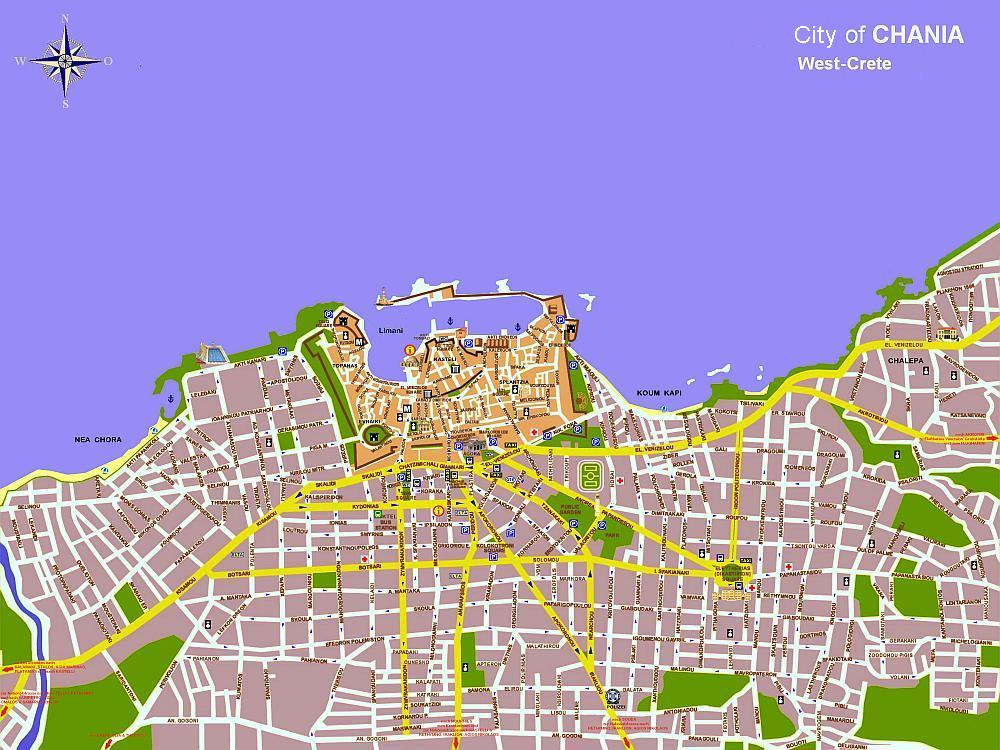 CRETA deluxe City Map of Chania